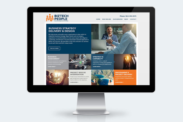 Biztech People websit design