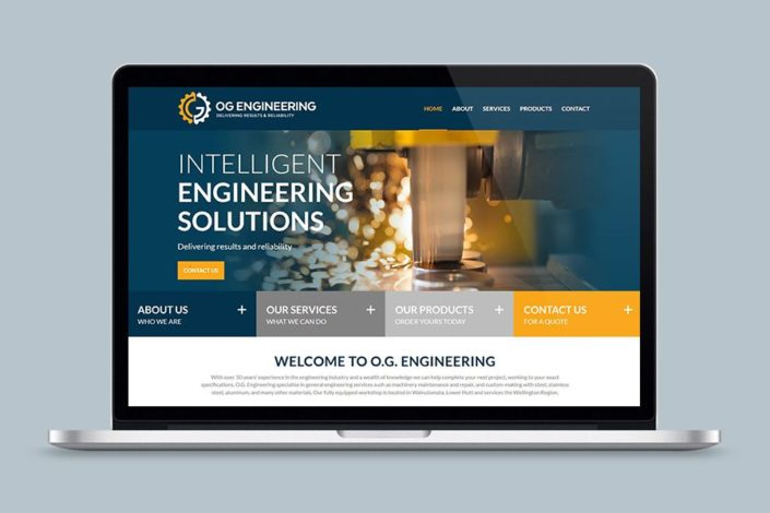 OG Engineering website design and build