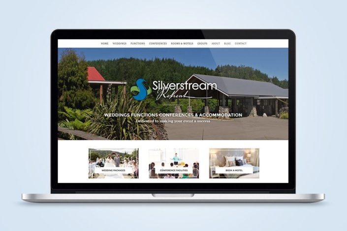 Silverstream Retreat website design