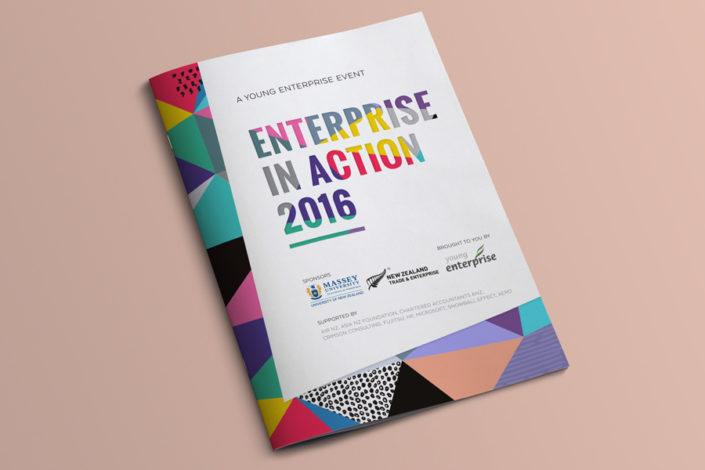 Young Enterprise event programme booklet design