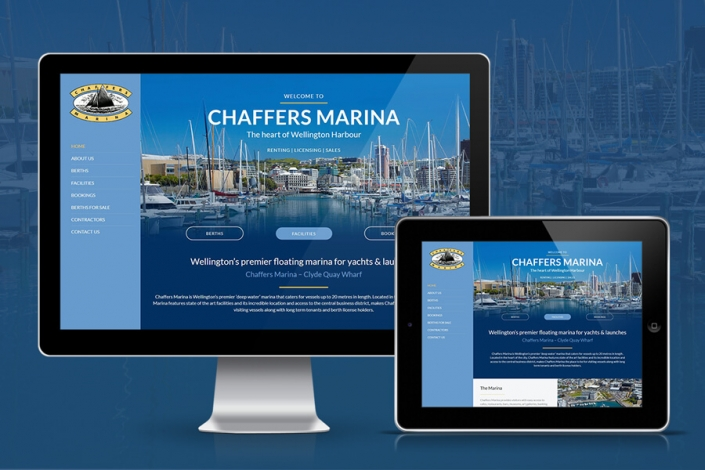 Responsive website design Chaffers Marina