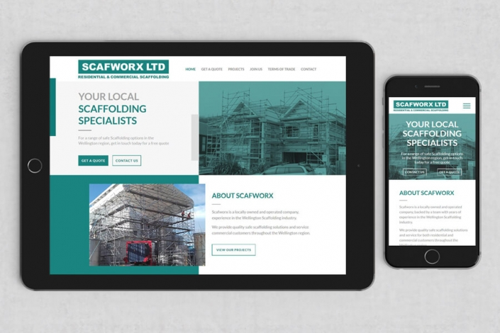 Scafworx website design