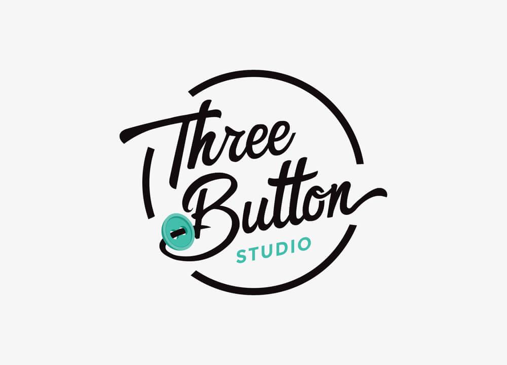 Three Button Studio logo design