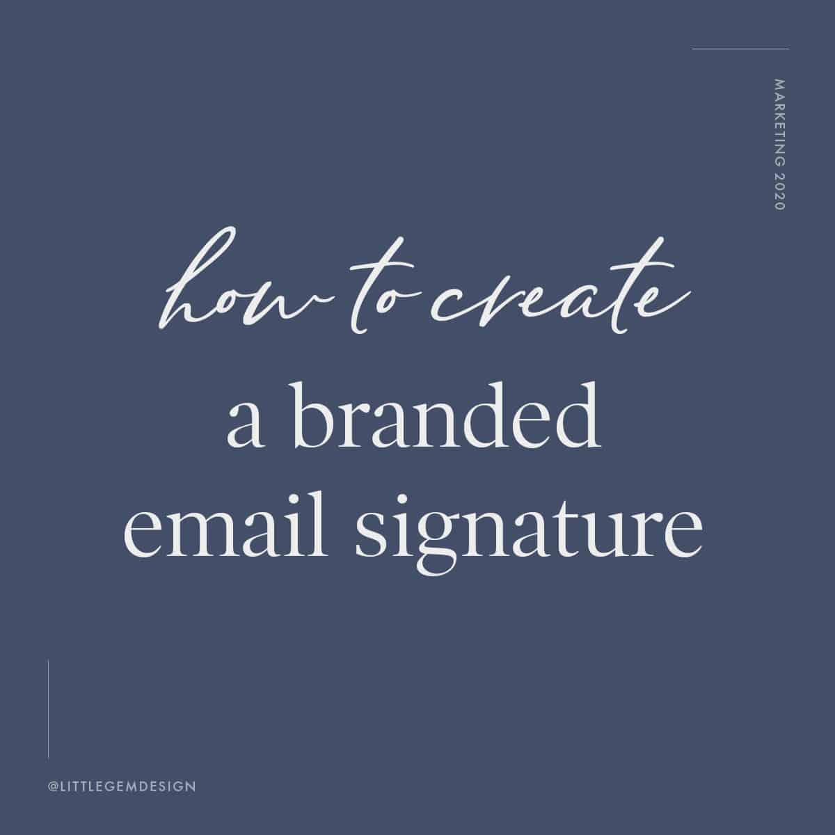 Branded email signature