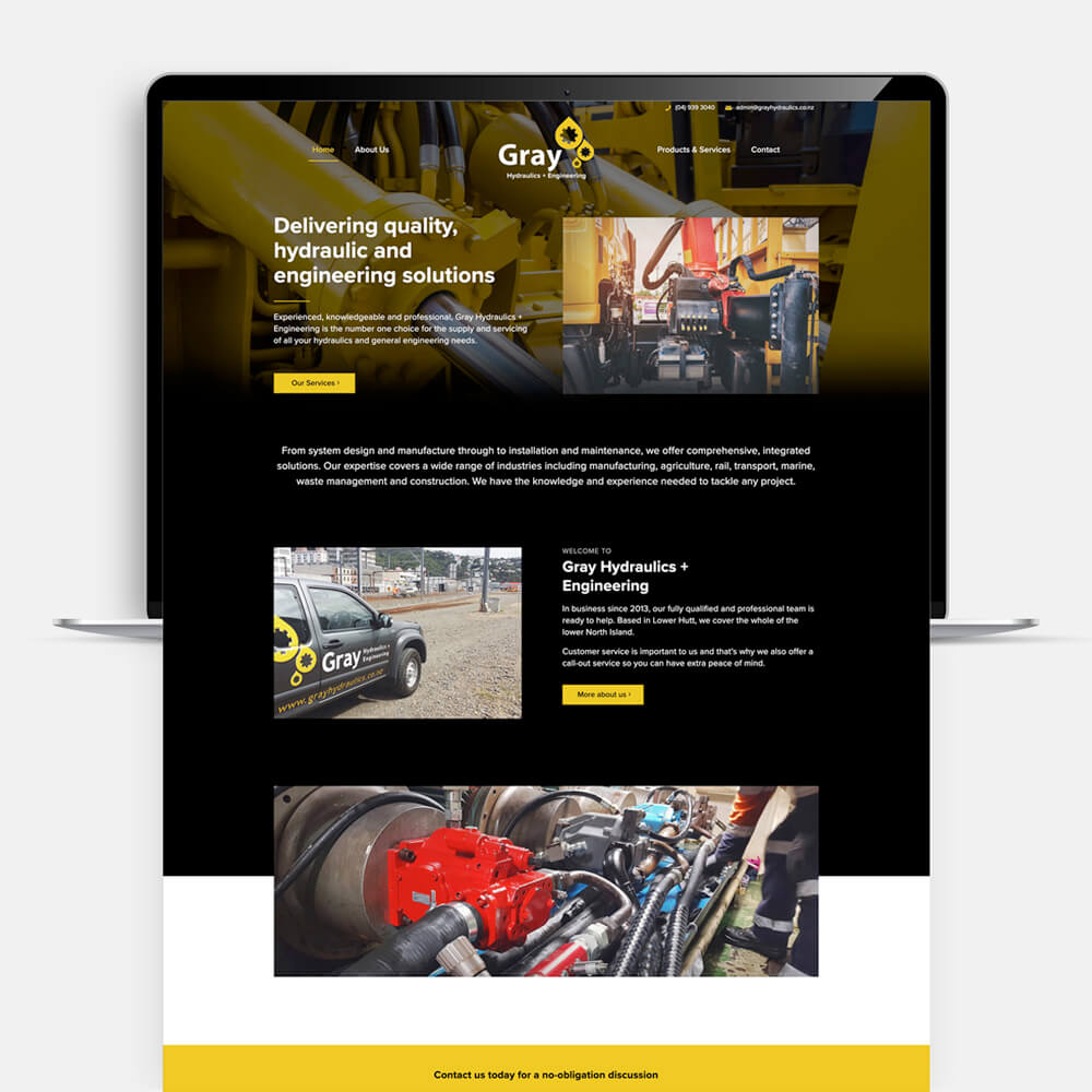 Gray Hydraulics website design