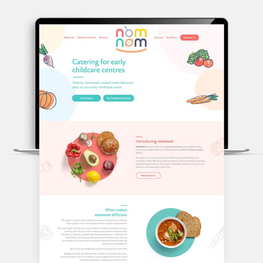 nomnom website design