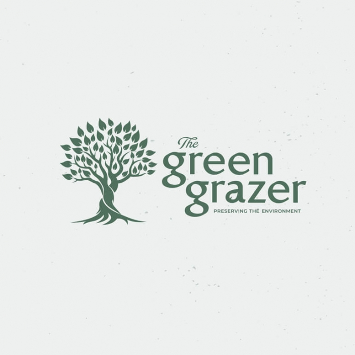 The Green Grazer logo design