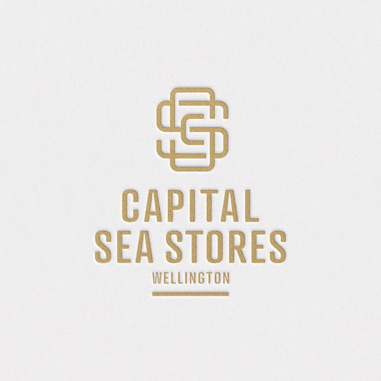 Capital Sea Stores logo and brand design