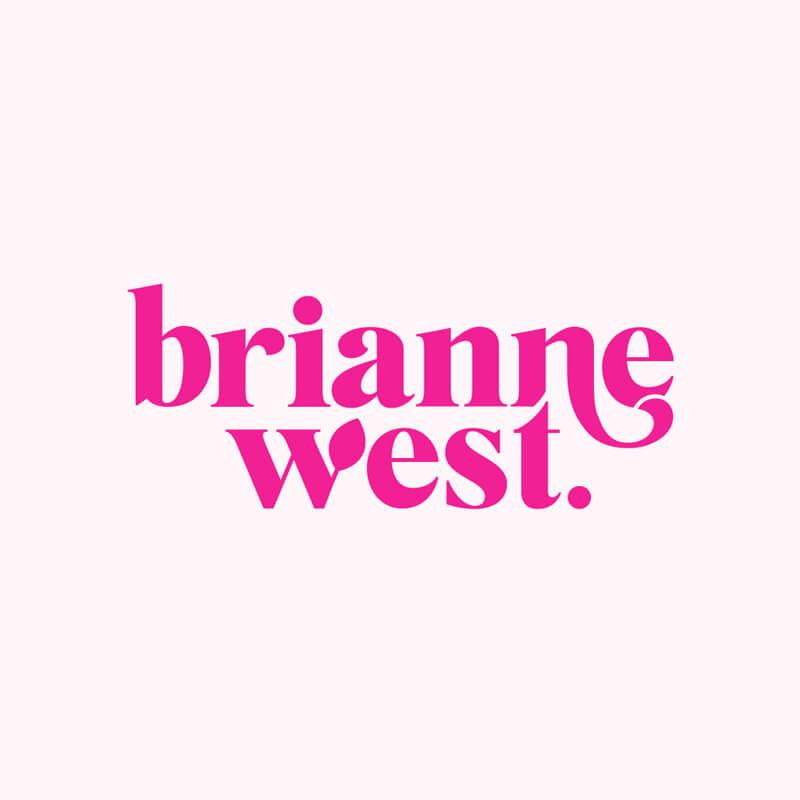 Brianne West logo design